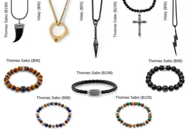 Mens holiday gift guide, jewelry