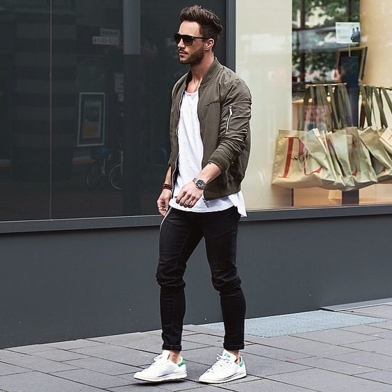 Mens bomber jacket style - green bomber