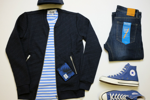 mens style guide mens style for fall featuring J Lindeberg, CdG Play, DU/ER denim, and more