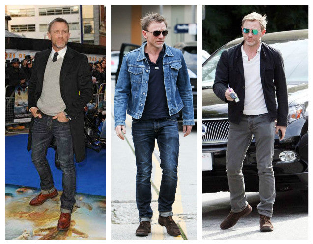 Daniel Craig brown shoes
