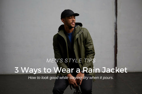 how to wear a rain jacket