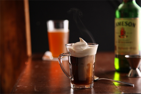 Irish Coffee Recipe - Whiskey and Coffee