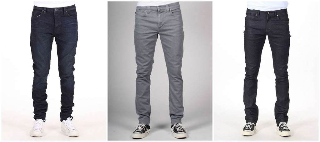Different types of skinny jeans for skinny men