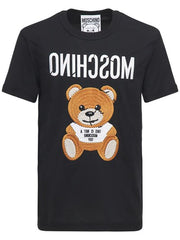 MOSCHINO INSIDE OUT TEDDY BEAR T-SHIRT IN BLACK