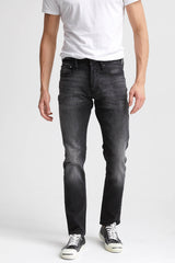 DENHAM RAZOR DEEP BLACK FINISH DENIM SLIM-FIT JEANS