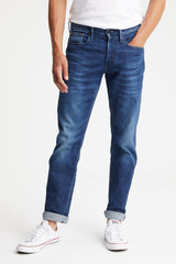 DENHAM RAZOR INDIGO SUSTAINABLE DENIM SLIM-FIT JEANS