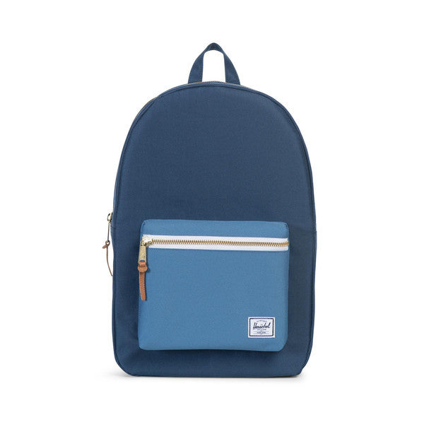 HERSCHEL SETTLEMENT BACKPACK IN NAVY AND CAPTAIN'S BLUE  - 1