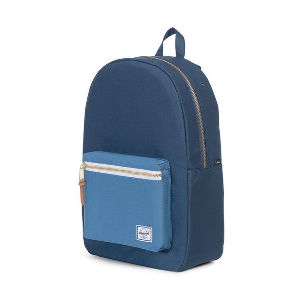 HERSCHEL SETTLEMENT BACKPACK IN NAVY AND CAPTAIN'S BLUE  - 3