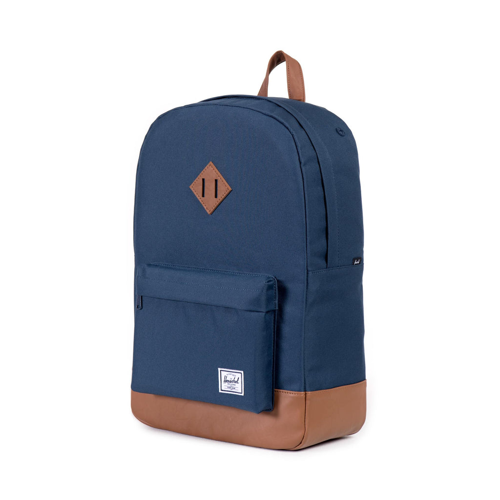 HERSCHEL HERITAGE BACKPACK IN NAVY WITH FAUX LEATHER  - 3
