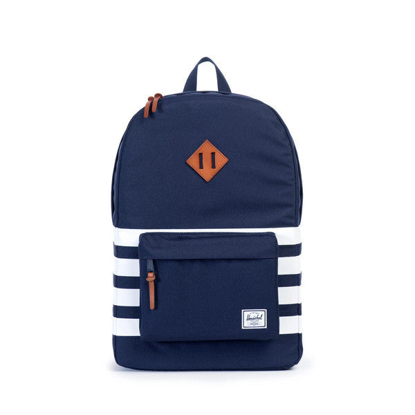 HERSCHEL HERITAGE BACKPACK IN PEACOAT OFFSET  - 1
