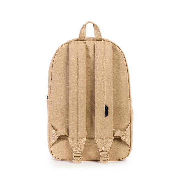 HERSCHEL HERITAGE BACKPACK IN KHAKI CANVAS AND BLACK LEATHER  - 4