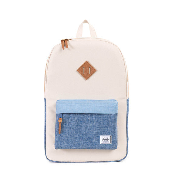 HERSCHEL HERITAGE BACKPACK IN NATURAL AND CHAMBRAY  - 1