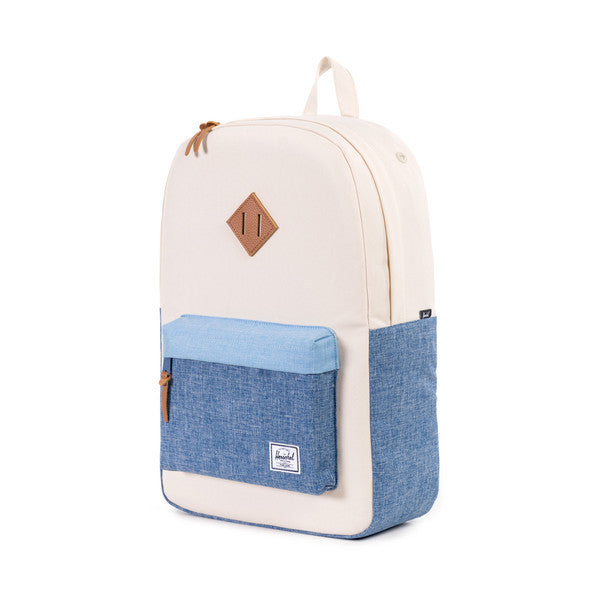HERSCHEL HERITAGE BACKPACK IN NATURAL AND CHAMBRAY  - 4