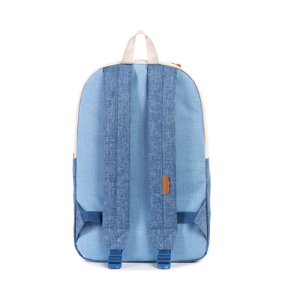 HERSCHEL HERITAGE BACKPACK IN NATURAL AND CHAMBRAY  - 3