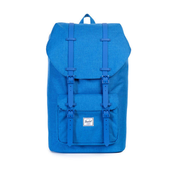 HERSCHEL LITTLE AMERICA BACKPACK IN COBALT CROSSHATCH RUBBER  - 1