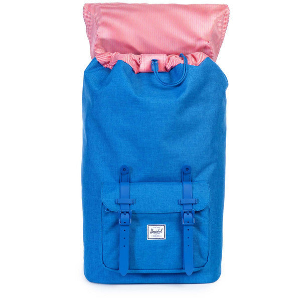 HERSCHEL LITTLE AMERICA BACKPACK IN COBALT CROSSHATCH RUBBER  - 2