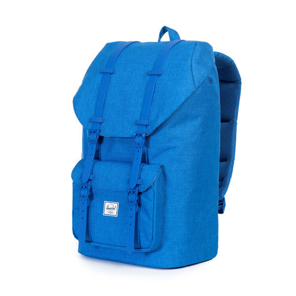 HERSCHEL LITTLE AMERICA BACKPACK IN COBALT CROSSHATCH RUBBER  - 3