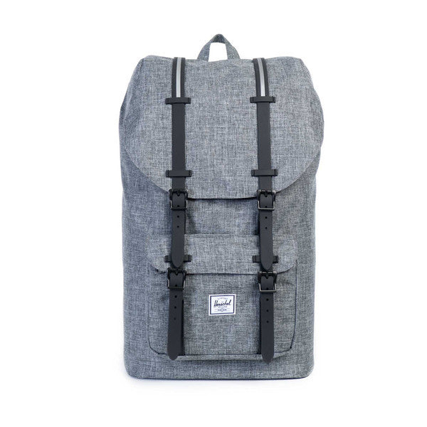 HERSCHEL LITTLE AMERICA BACKPACK IN RAVEN CROSSHATCH AND 3M