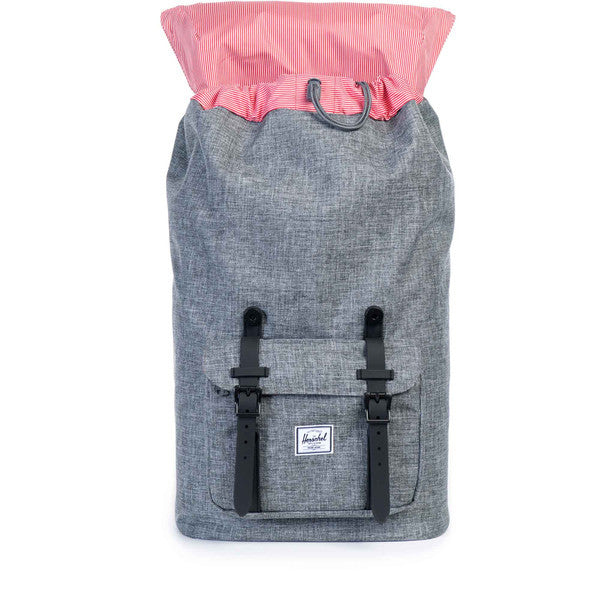 HERSCHEL LITTLE AMERICA BACKPACK IN RAVEN CROSSHATCH AND 3M  - 2