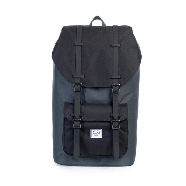 HERSCHEL LITTLE AMERICA BACKPACK IN DARK SHADOW AND BLACK RUBBER  - 1