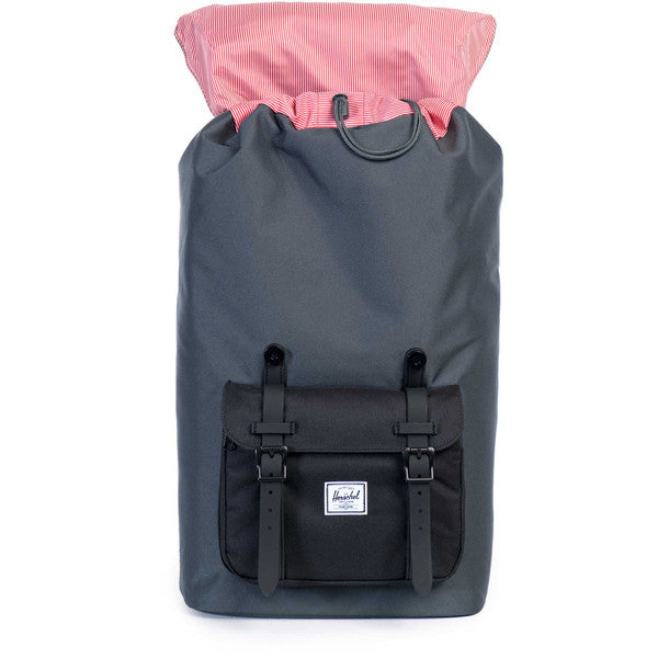 HERSCHEL LITTLE AMERICA BACKPACK IN DARK SHADOW AND BLACK RUBBER  - 2
