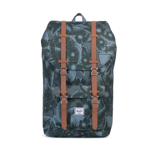 HERSCHEL LITTLE AMERICA BACKPACK IN JUNGLE FLORAL GREEN  - 1