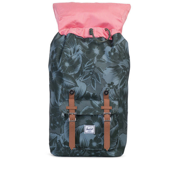 HERSCHEL LITTLE AMERICA BACKPACK IN JUNGLE FLORAL GREEN  - 2