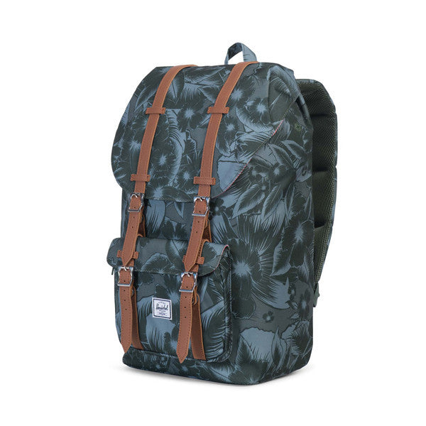 HERSCHEL LITTLE AMERICA BACKPACK IN JUNGLE FLORAL GREEN  - 3
