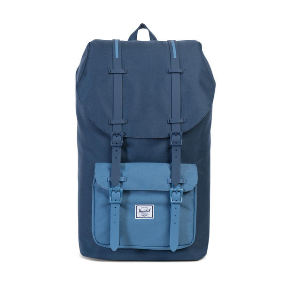 HERSCHEL LITTLE AMERICA BACKPACK IN NAVY AND CAPTAIN'S BLUE  - 1