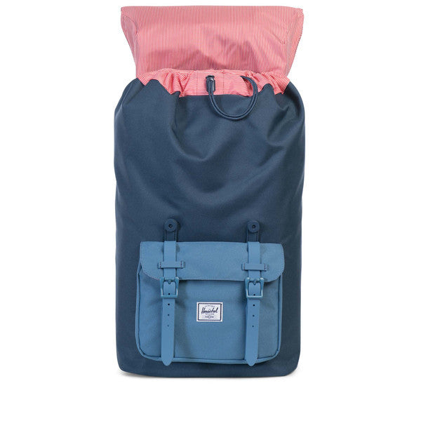 HERSCHEL LITTLE AMERICA BACKPACK IN NAVY AND CAPTAIN'S BLUE  - 2