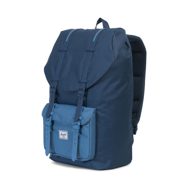 HERSCHEL LITTLE AMERICA BACKPACK IN NAVY AND CAPTAIN'S BLUE  - 3