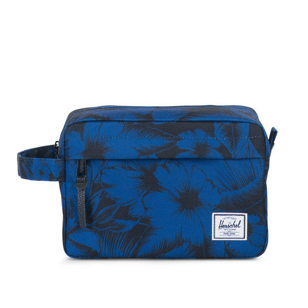 HERSCHEL CHAPTER TRAVEL KIT IN JUNGLE FLORAL BLUE  - 1