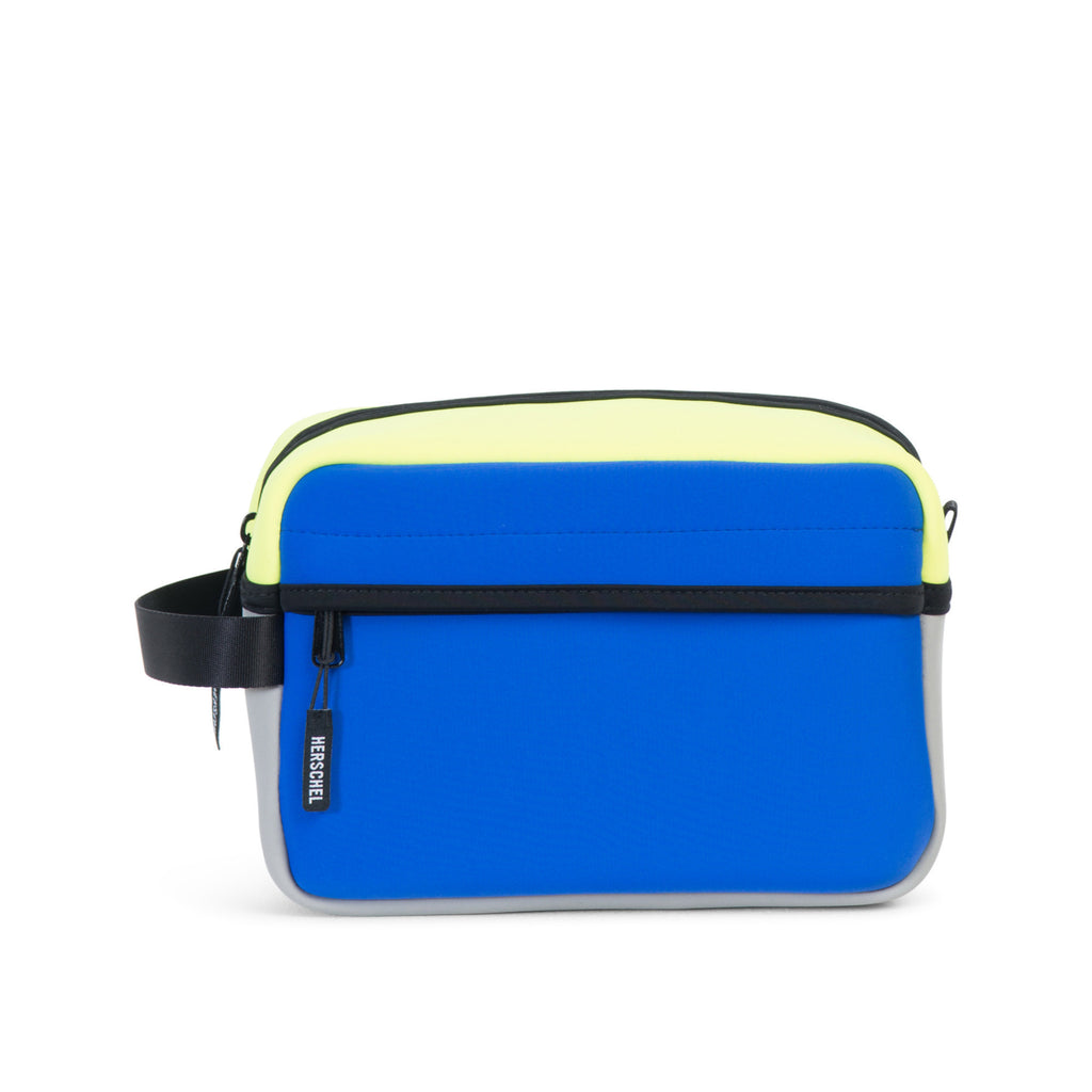 HERSCHEL CHAPTER TRAVEL KIT IN COBALT GREY NEON LIME NEOPRENE  - 1