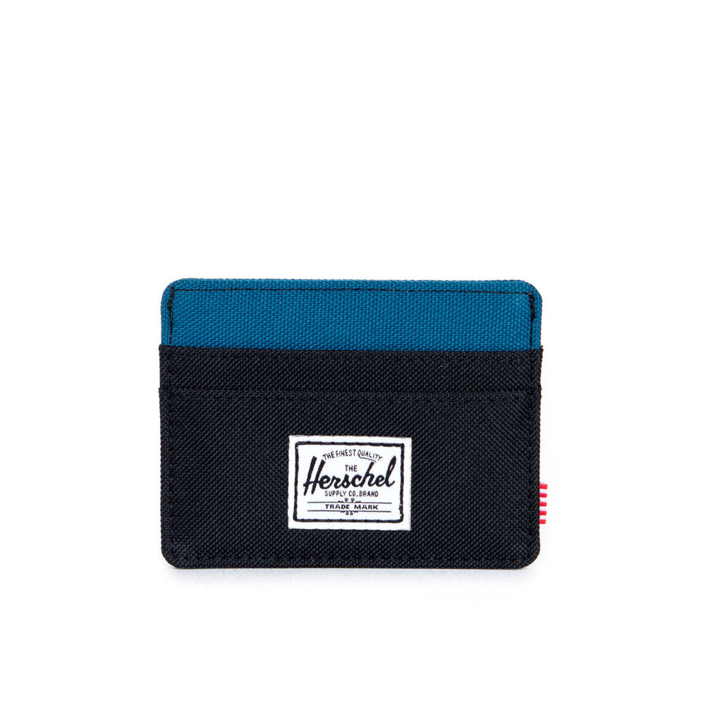 HERSCHEL SUPPLY CO. CHARLIE WALLET IN BLACK AND INK BLUE  - 1