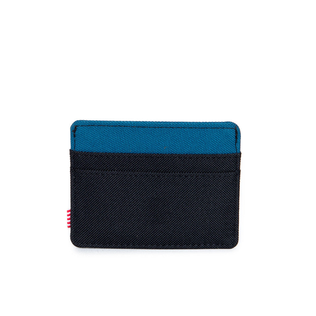 HERSCHEL SUPPLY CO. CHARLIE WALLET IN BLACK AND INK BLUE  - 2