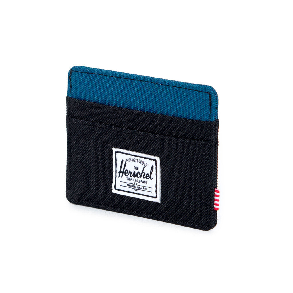 HERSCHEL SUPPLY CO. CHARLIE WALLET IN BLACK AND INK BLUE  - 3