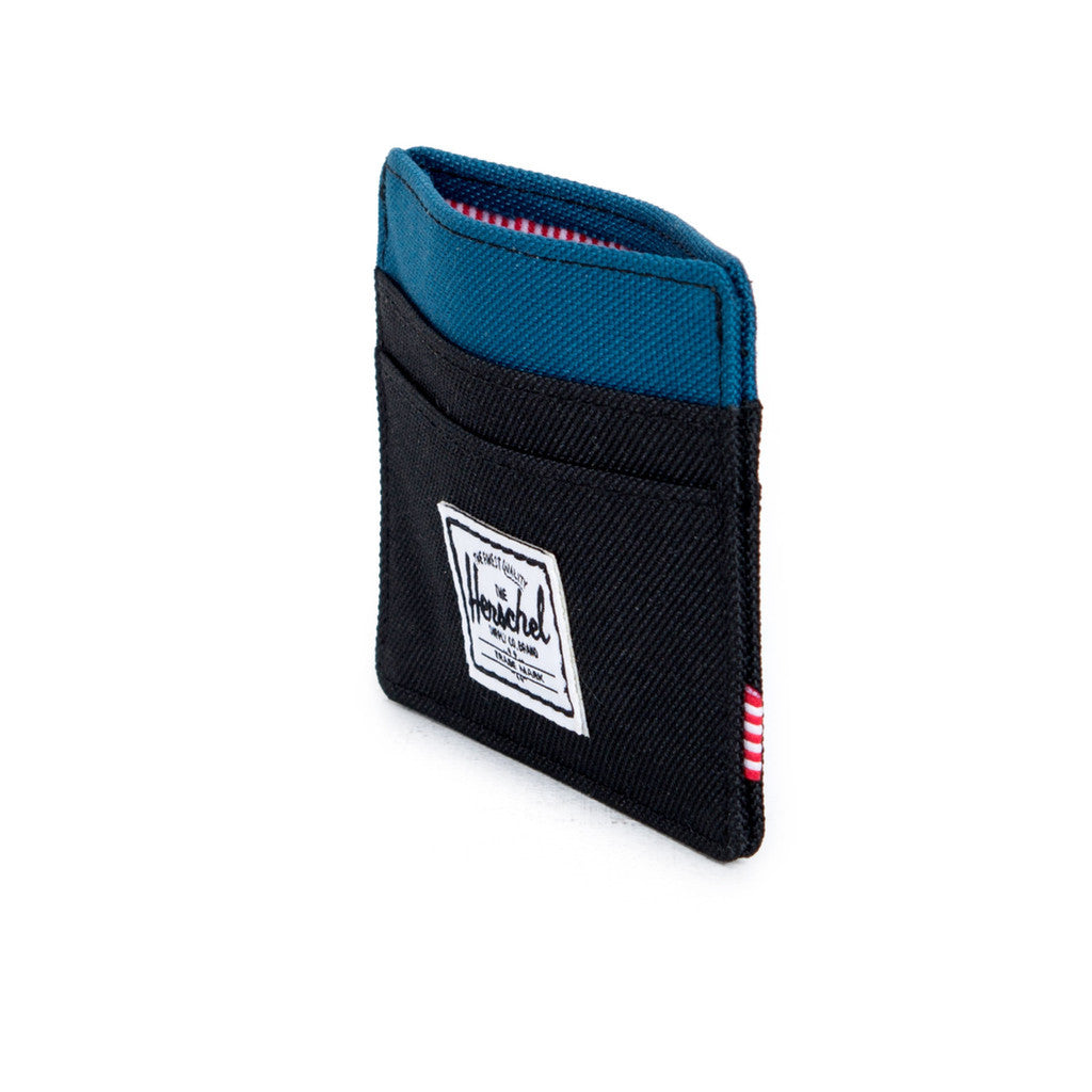 HERSCHEL SUPPLY CO. CHARLIE WALLET IN BLACK AND INK BLUE  - 4