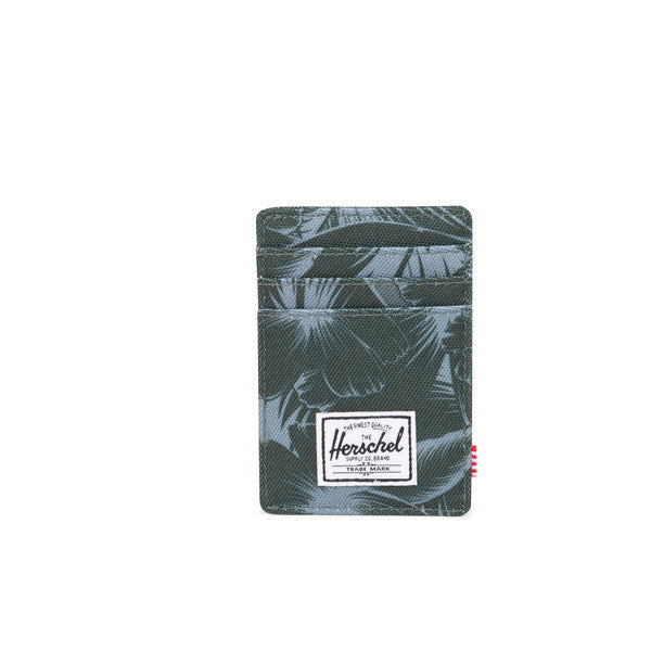HERSCHEL RAVEN WALLET IN JUNGLE FLORAL GREEN  - 1