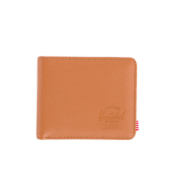 HERSCHEL HANK WALLET IN TAN PEBBLED LEATHER  - 1