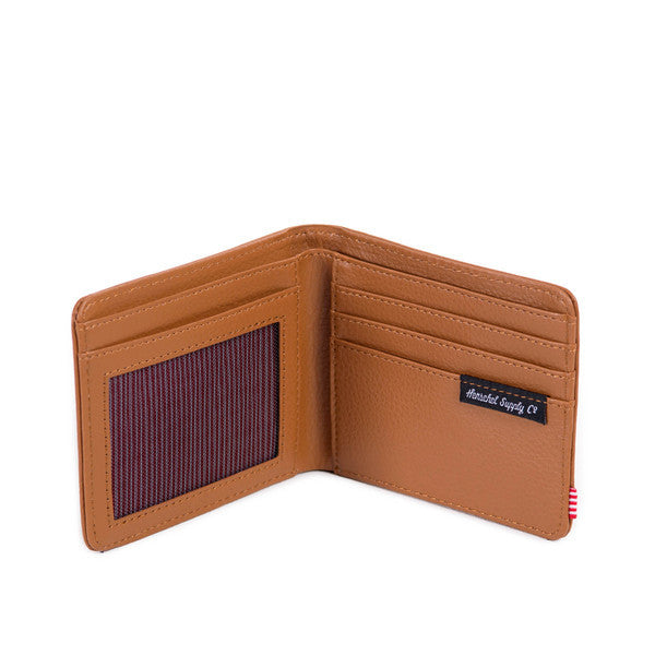 HERSCHEL HANK WALLET IN TAN PEBBLED LEATHER  - 3