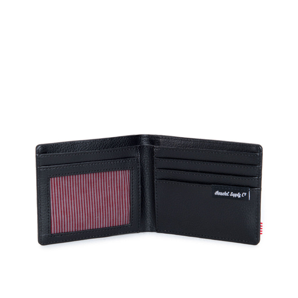 HERSCHEL HANK LEATHER WALLET IN BLACK SNAKE  - 3