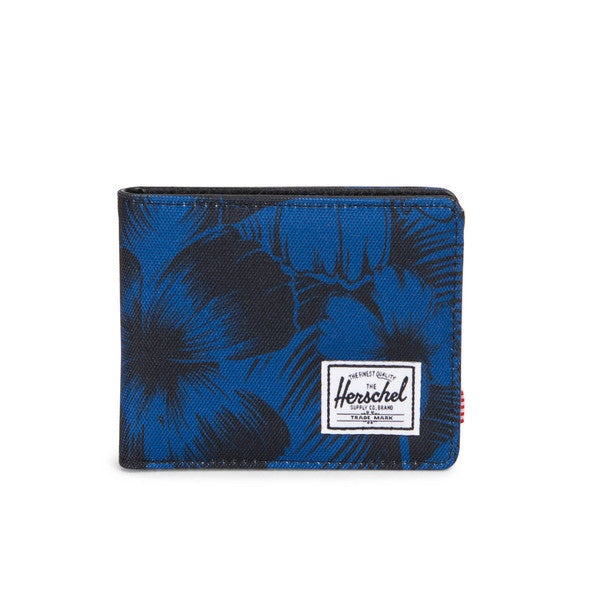 HERSCHEL HANK WALLET IN JUNGLE FLORAL BLUE  - 1