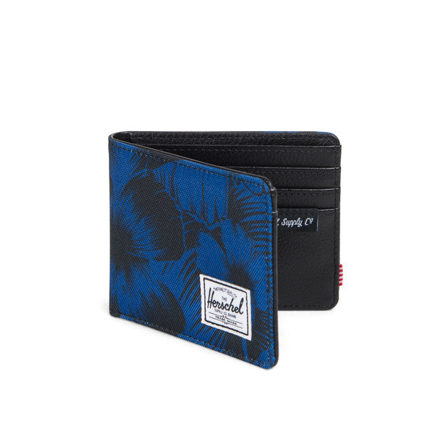 HERSCHEL HANK WALLET IN JUNGLE FLORAL BLUE  - 2