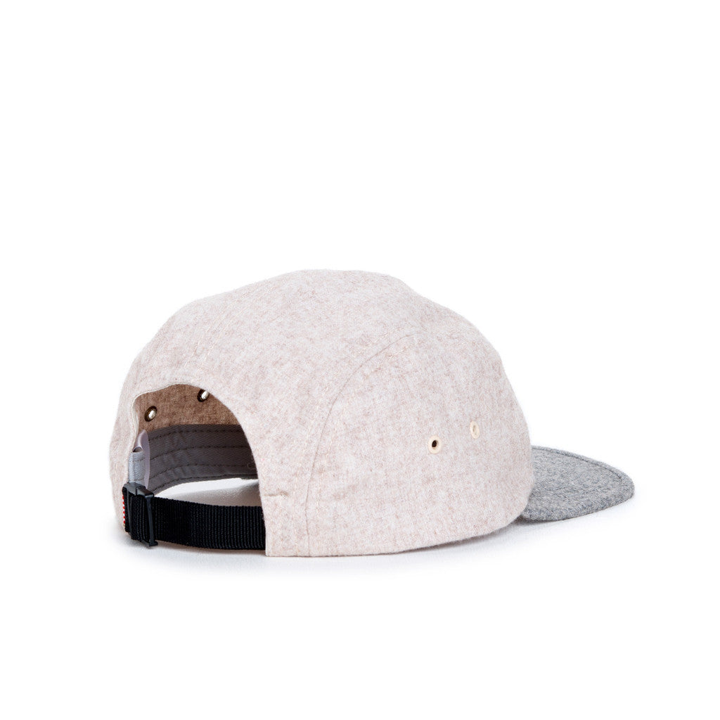 HERSCHEL SUPPLY CO. GLENDALE CAP IN OATMEAL AND GREY BRUSHED COTTON  - 2