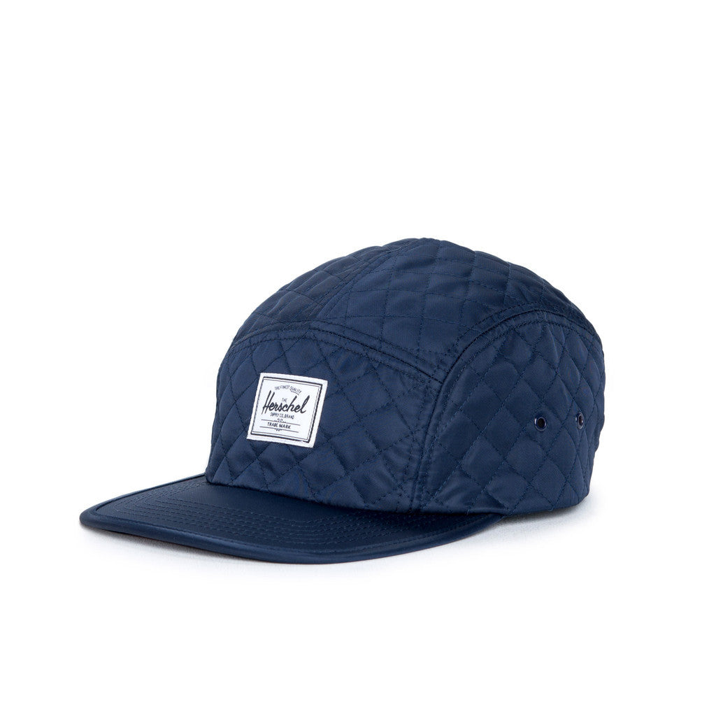 HERSCHEL SUPPLY CO. GLENDALE CAP IN NAVY QUILTED NYLON  - 1