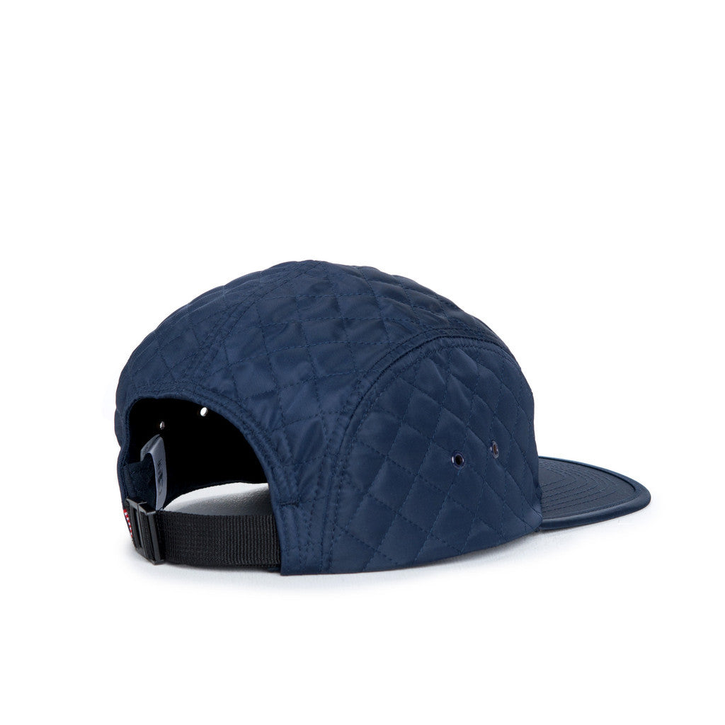 HERSCHEL SUPPLY CO. GLENDALE CAP IN NAVY QUILTED NYLON  - 2