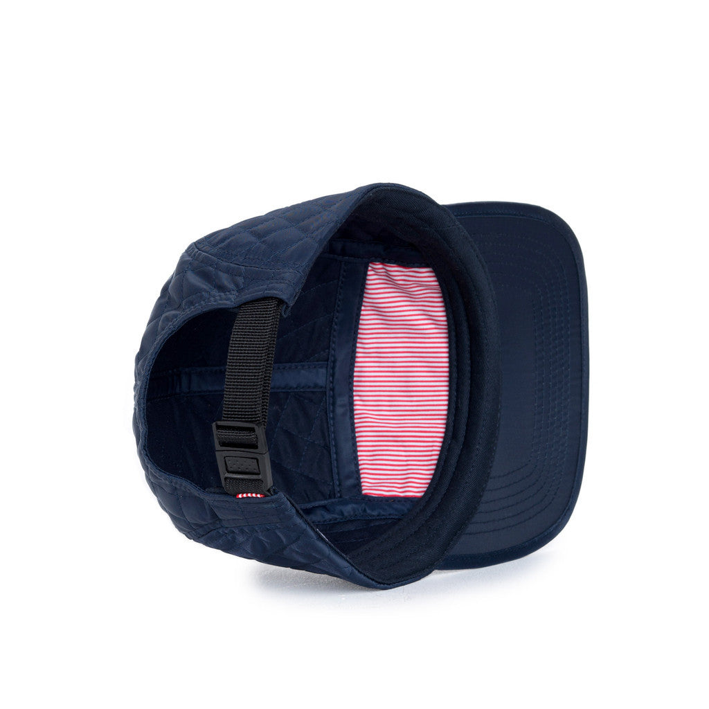 HERSCHEL SUPPLY CO. GLENDALE CAP IN NAVY QUILTED NYLON  - 3