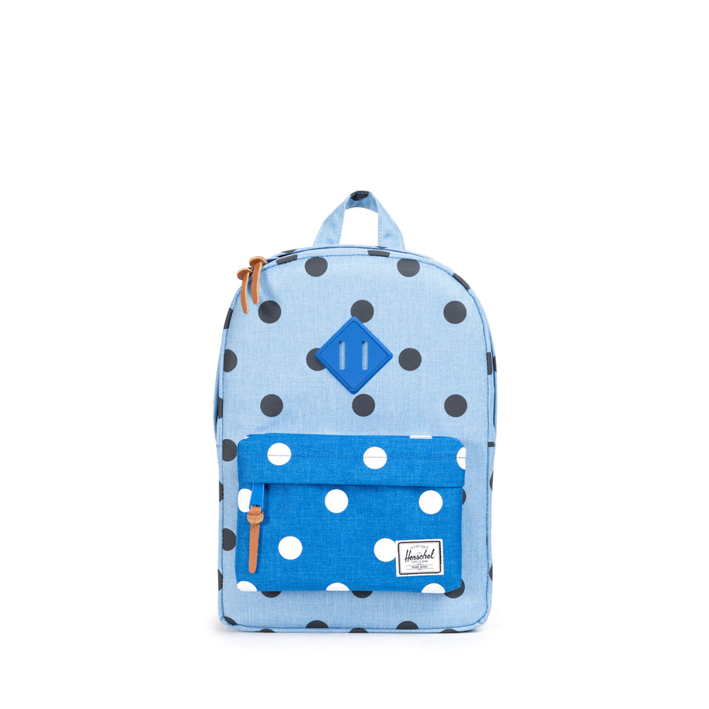 HERSCHEL HERITAGE KIDS BACKPACK IN POLKA DOT CHAMBRAY