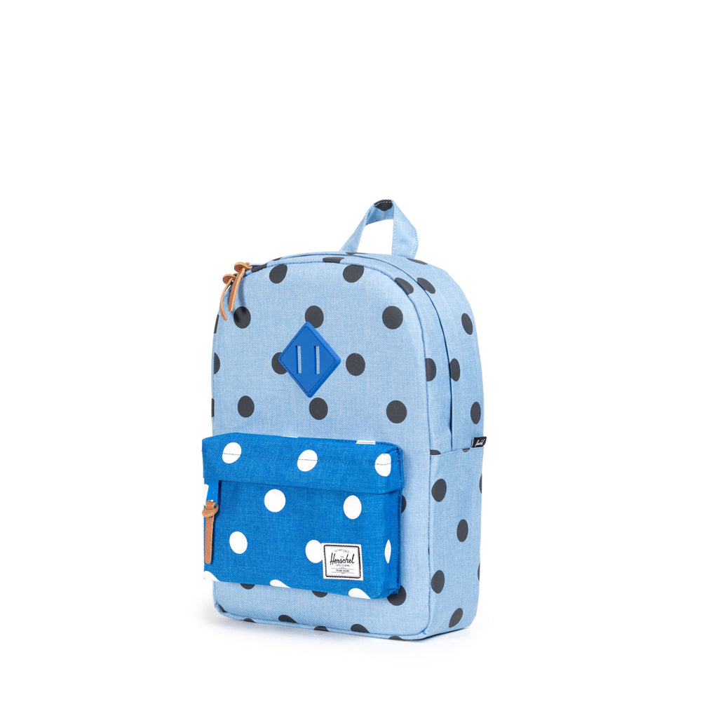 HERSCHEL HERITAGE KIDS BACKPACK IN POLKA DOT CHAMBRAY  - 3