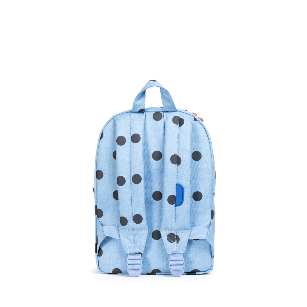 HERSCHEL HERITAGE KIDS BACKPACK IN POLKA DOT CHAMBRAY  - 4